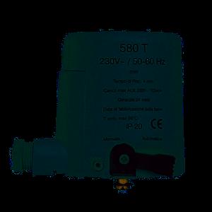 ATTUATORE ELETTROTERMICO 580T WATTS 24V - 220V PER COMANDO VALVOLE DI ZONA